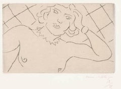 Torse, Fond à Losanges - Original Drypoint on China by H. Matisse, 1929