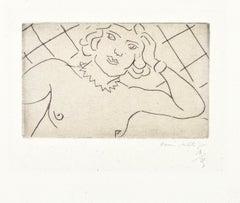 Torse, Fond à Losanges - Original Drypoint on China by H. Matisse, 1929