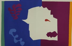 """Vintage Lithographic print """"Wolf/le Loup"""" from Henri Matisse's book, """"Jazz"""""""