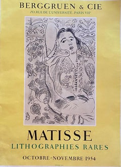Vintage Matisse Exhibition Poster - Galerie Berggruen - 1954