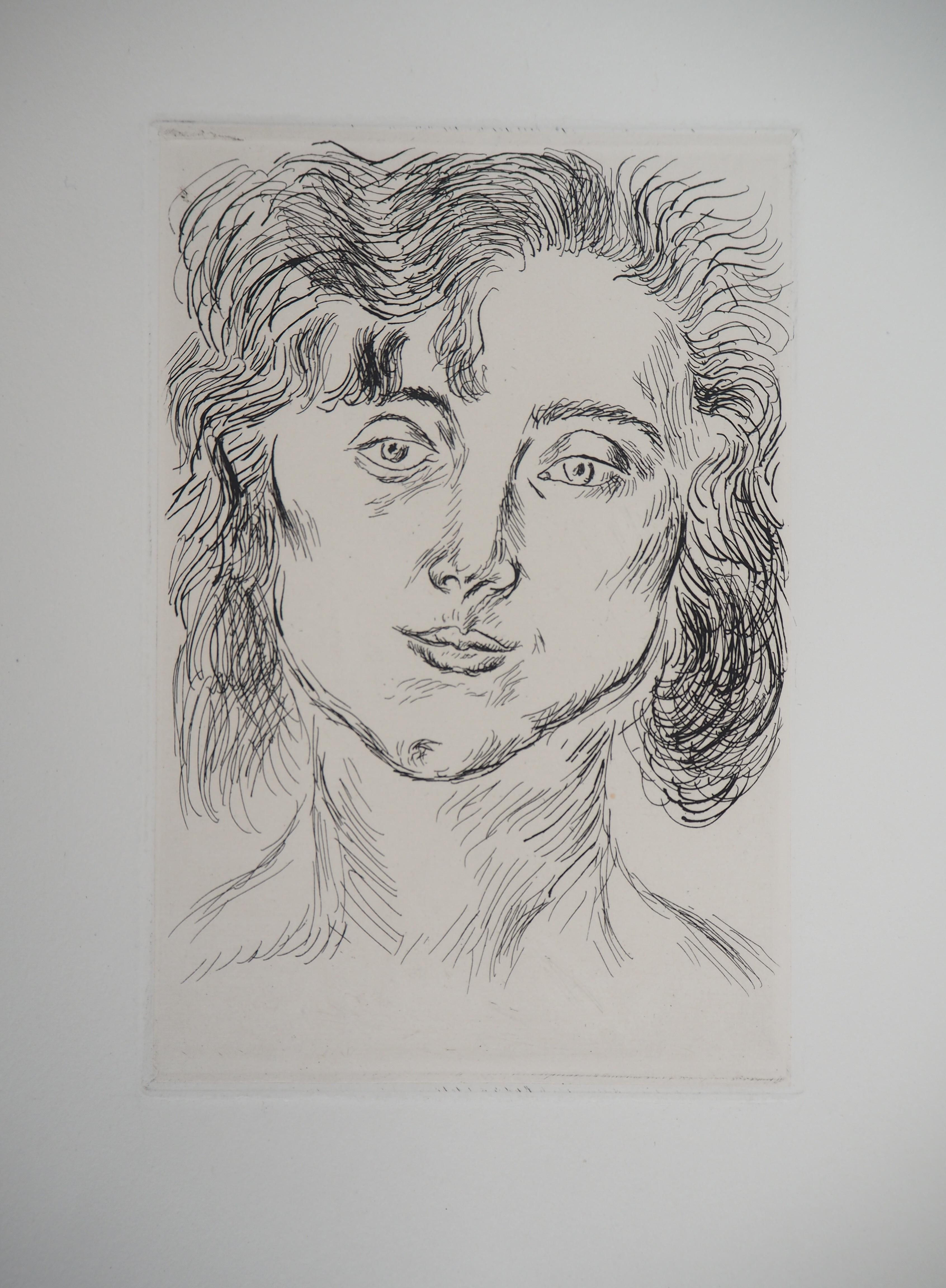 Woman Portrait - Original etching (Duthuit #2)