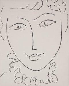 Young Woman (Madame de Pompadour) - Original lithograph, Mourlot 1954
