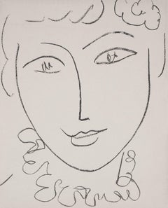 Young Woman (Madame de Pompadour) - Original lithograph, Mourlot 1954