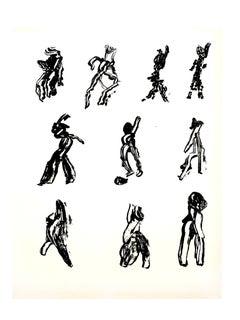Henri Michaux -  People - Original Lithograph