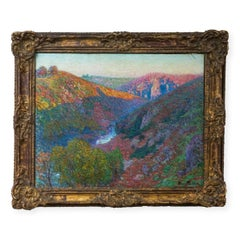 "19th French Impressionist Painting ""Paysage de la Creuse"""