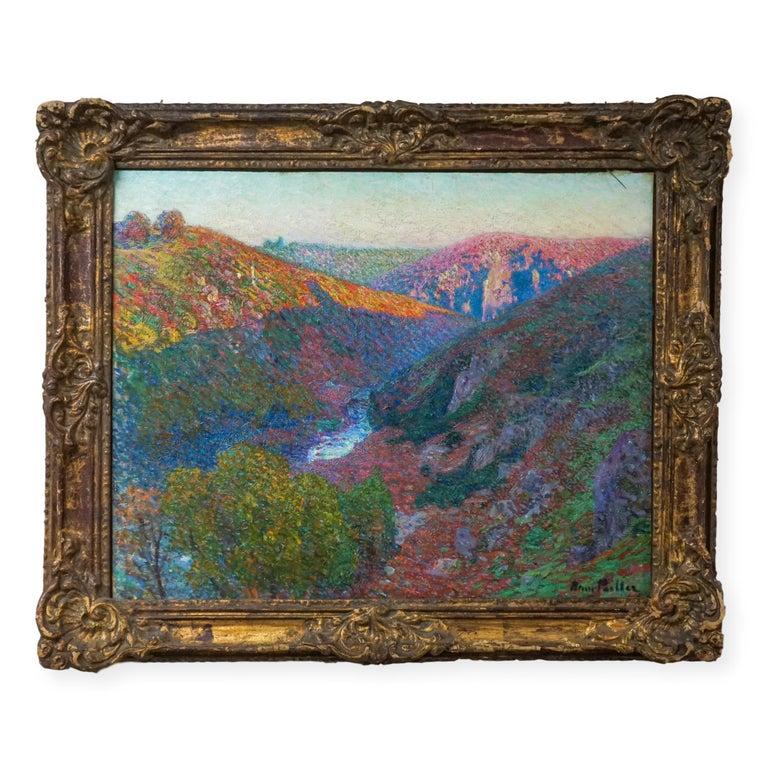 """Henri Pailler Landscape Painting - 19th French Impressionist Painting """"Paysage de la Creuse"""""""