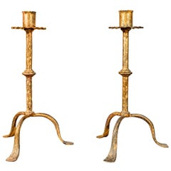 Henri Pouenat, Pair of Candlesticks, France, circa 1980