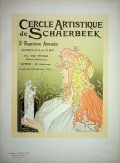 Art Nouveau Muse - Lithograph (Les Maîtres de l'Affiche), Imprimerie Chaix 1900
