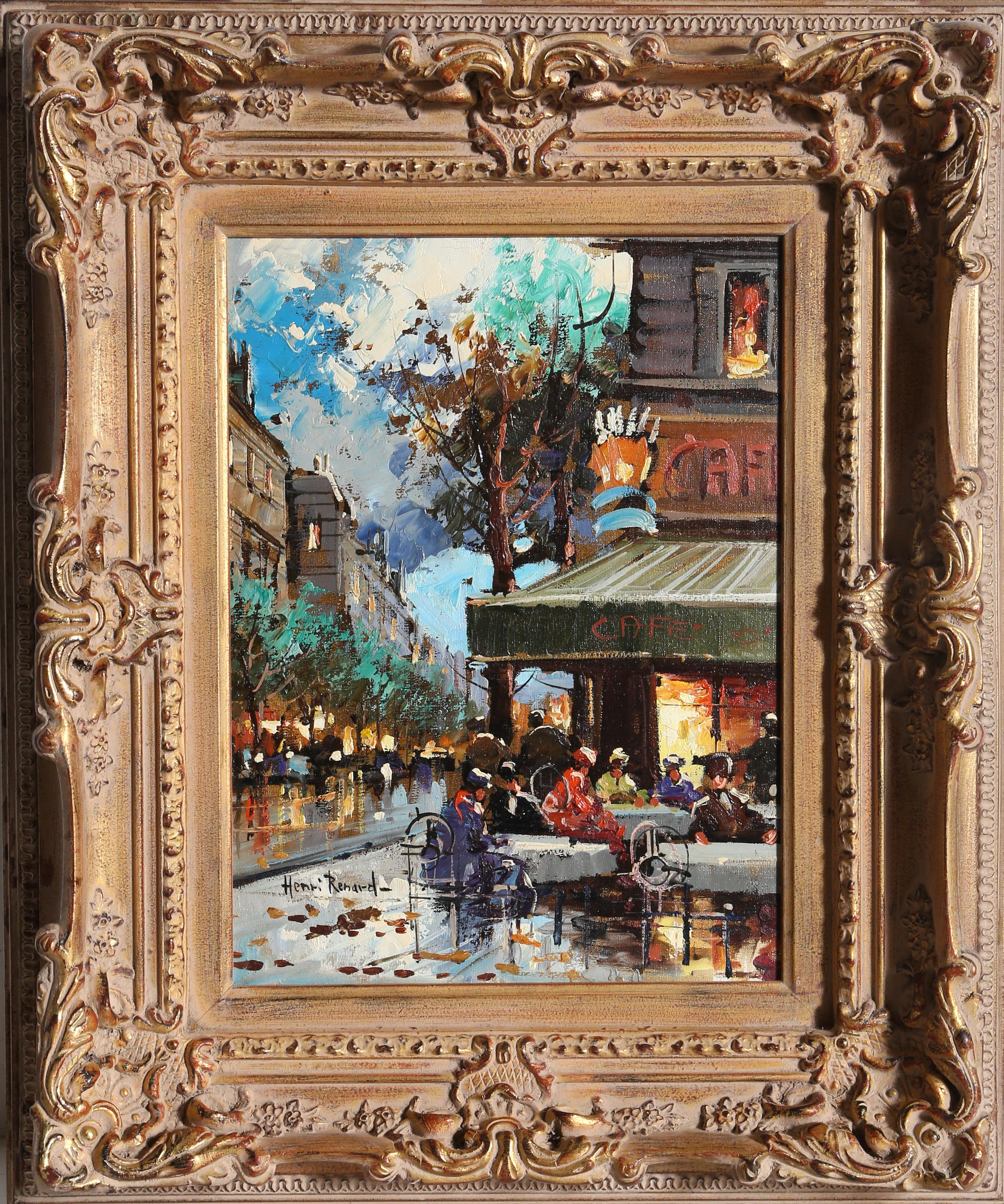 French Cafe, Oil Painting by Henri Renard