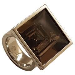 Henrich & Denzel Platinum Smoky Quartz Ring
