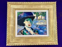 French Impressionist portrait of a lady in the South of France