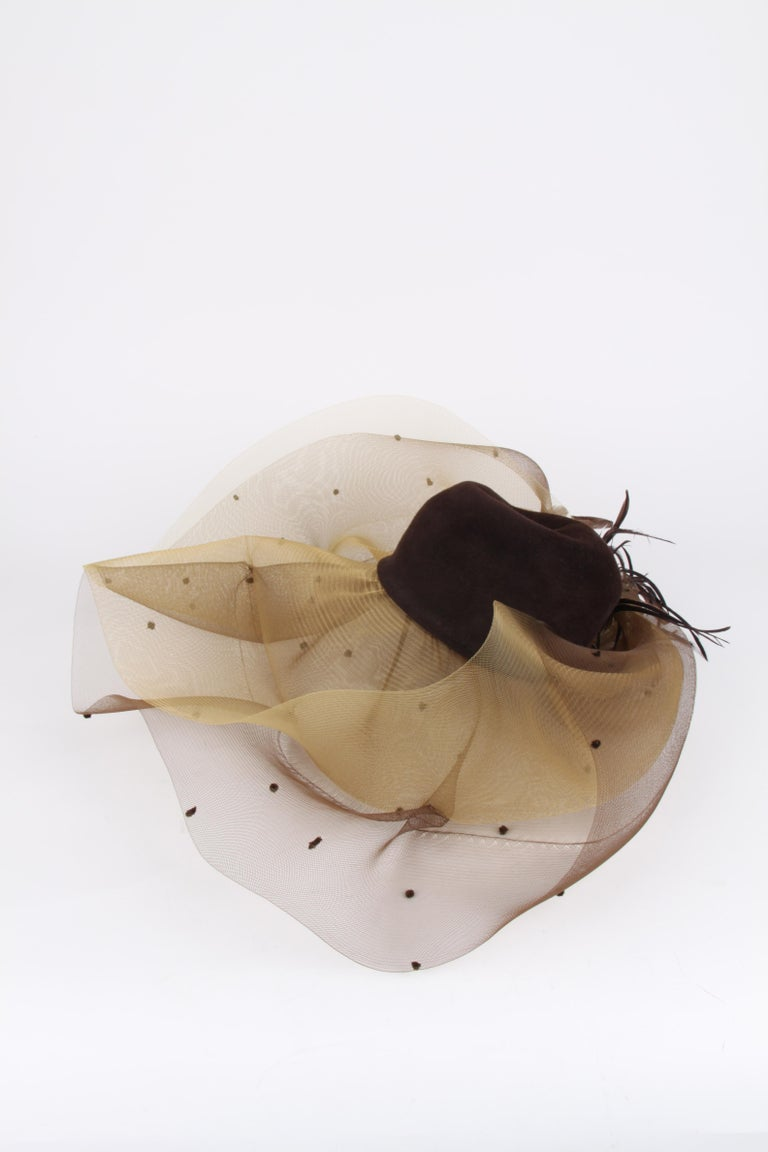 Henriette Dijkinga Den Haag Couture Derby Hat In Excellent Condition For Sale In Baarn, NL