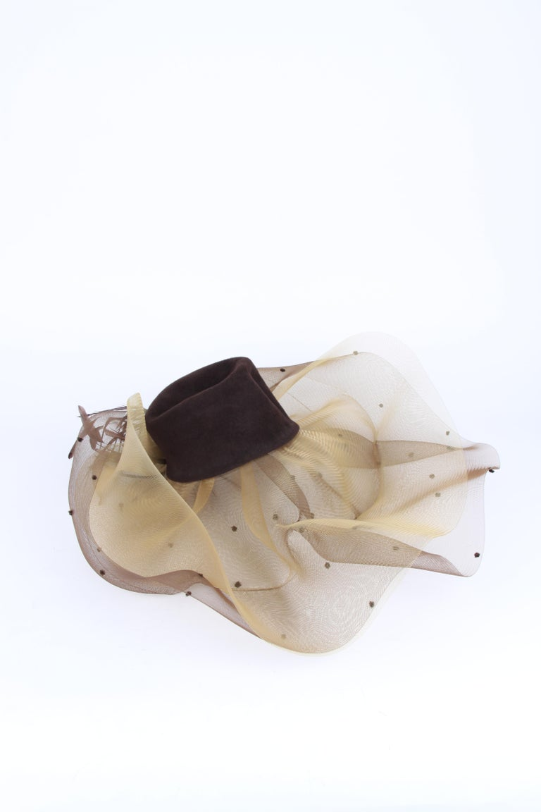 Women's or Men's Henriette Dijkinga Den Haag Couture Derby Hat For Sale