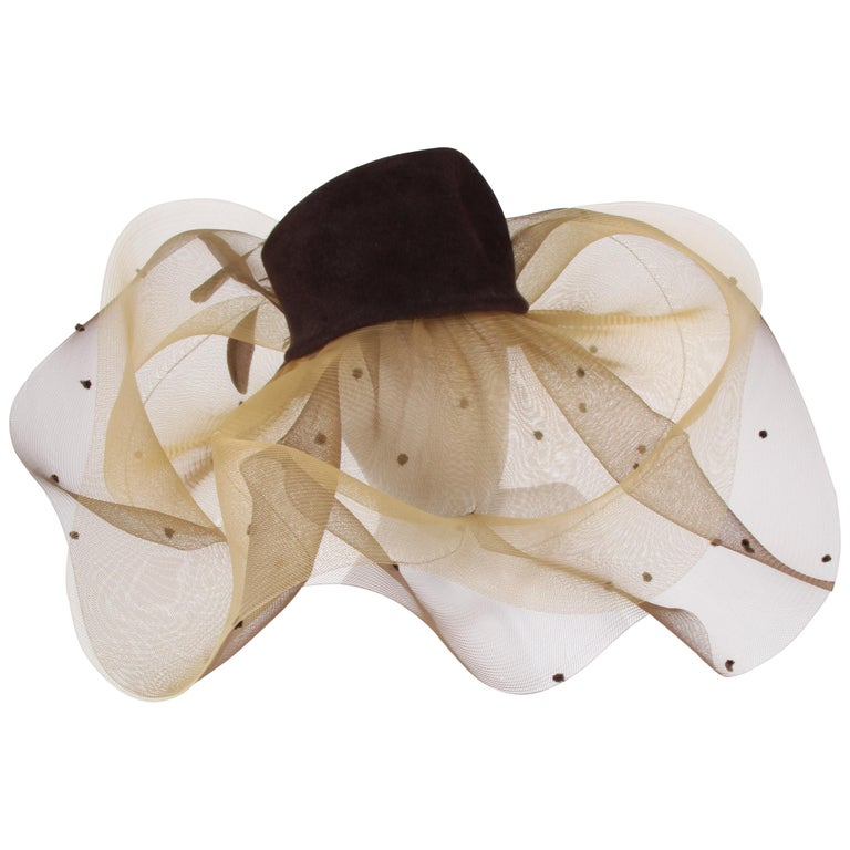 Henriette Dijkinga Den Haag Couture Derby Hat For Sale