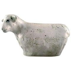 Henrik Allert for Pentik, Finland Unique Sheep in Ceramics, Late 1900s Stylish