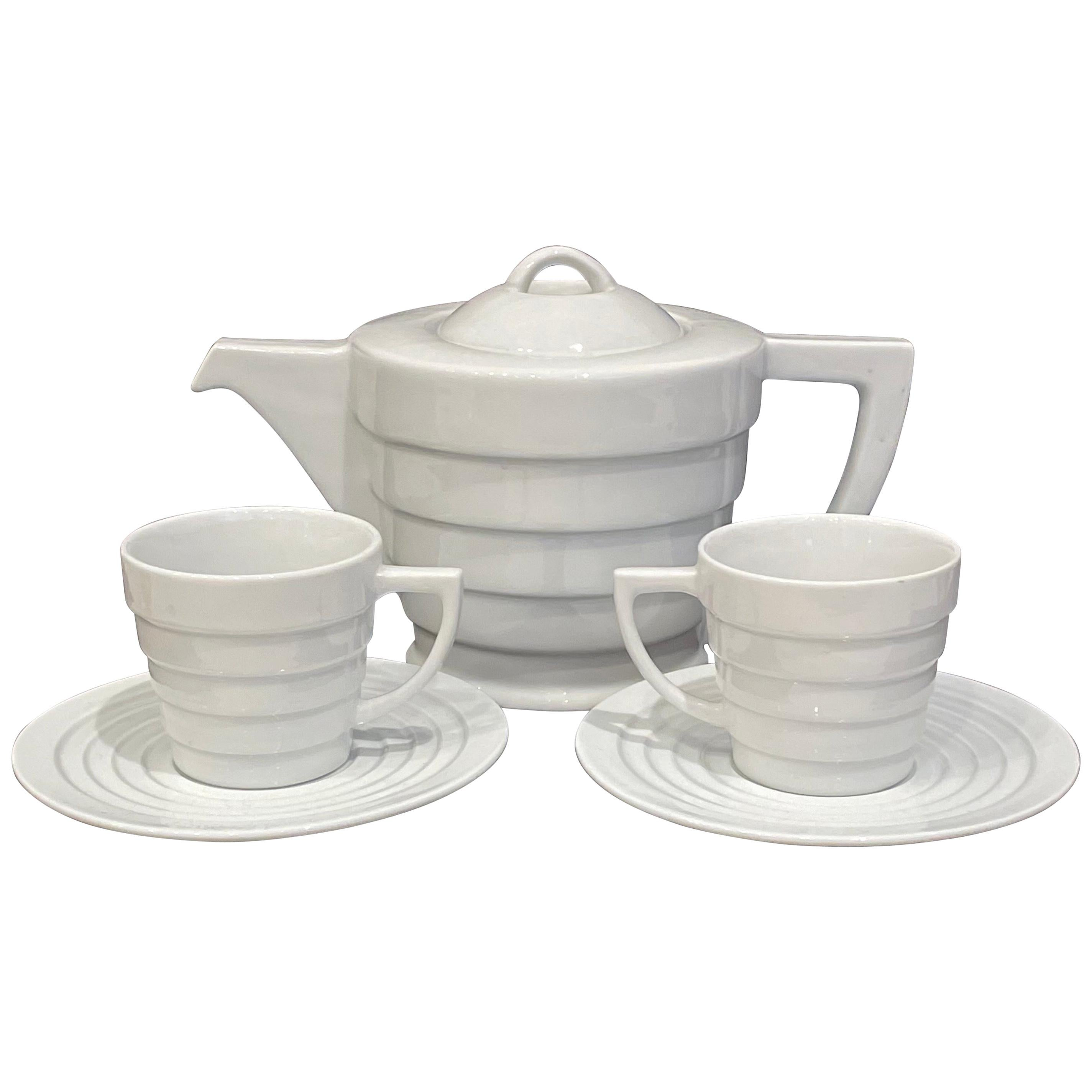 Henriksen Guggenheim Frank Lloyd Wright Collection Teapot and Cups, Set for 2