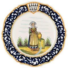 Henriot Quimper Faience Plate