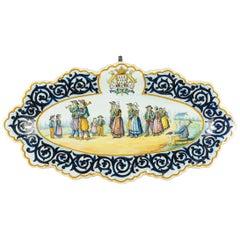 Henriot Quimper Faience Platter