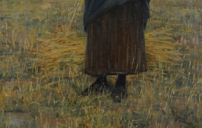 Woman in a Field Oil on canvas, 1894 Signed and dated 1894, lower right corner Unframed A major exhibition work by this American Expatriate painter. From the linear descendants of the artist. Provenance: Estate of the artist
