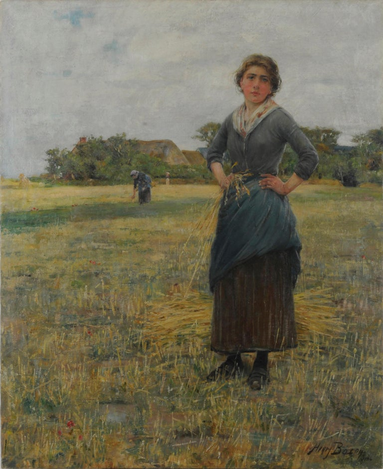 Henry Bacon Figurative Painting - Woman in a Field