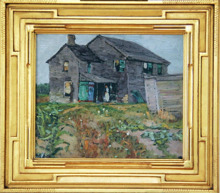Henry Bayley Snell Landscape Painting - Henry Snell, Old Farmhouse, Oil on Board, Signed