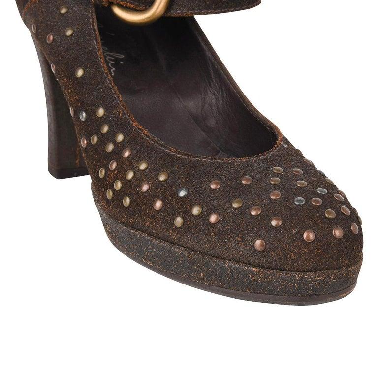 Black Henry Beguelin Shoe Nubuck Suede Stud Hardware 39.5 / 9.5 For Sale