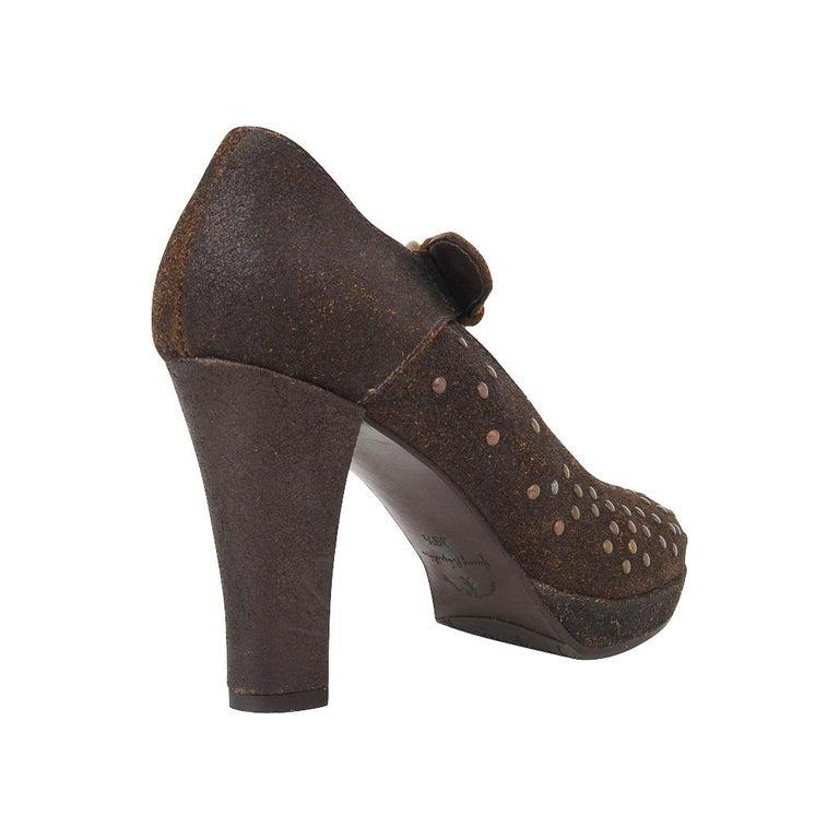 Henry Beguelin Shoe Nubuck Suede Stud Hardware 39.5 / 9.5 For Sale 4