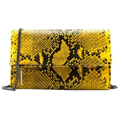 Henry Bendel Girls Night Out Embossed Snake Clutch Bag One Size