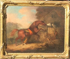 Massive Horse Oil Painting by H.B.Chalon of Love from his Passions of the Horse