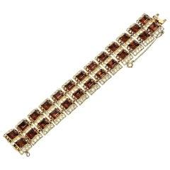 Henry Bogaff Rhinestone Bracelet Mid Century Modern