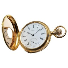 Henry Capt 18 Karat Gold Handmade 31 Jewel Quarter Repeating Watch, 1900s