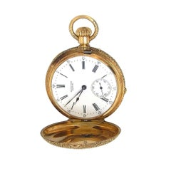 Henry Capt Geneve Gold 18 Karat Yellow Gold Pocket Watch