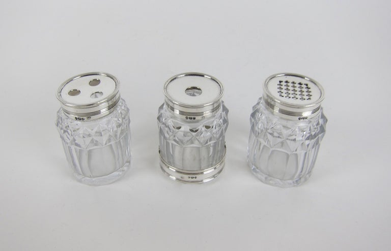 Faceted Antique English Ink, Quill & Pounce Bottles from 1792, The Rockefeller Sale For Sale