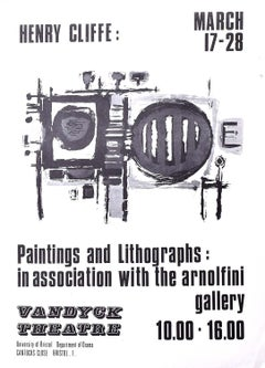 Henry Cliffe (1919-1983) Vandyck Theatre Poster Abstract Modern British Art
