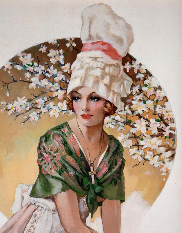 Global Glamour - Normandy - Brown Portrait Painting by Henry Clive
