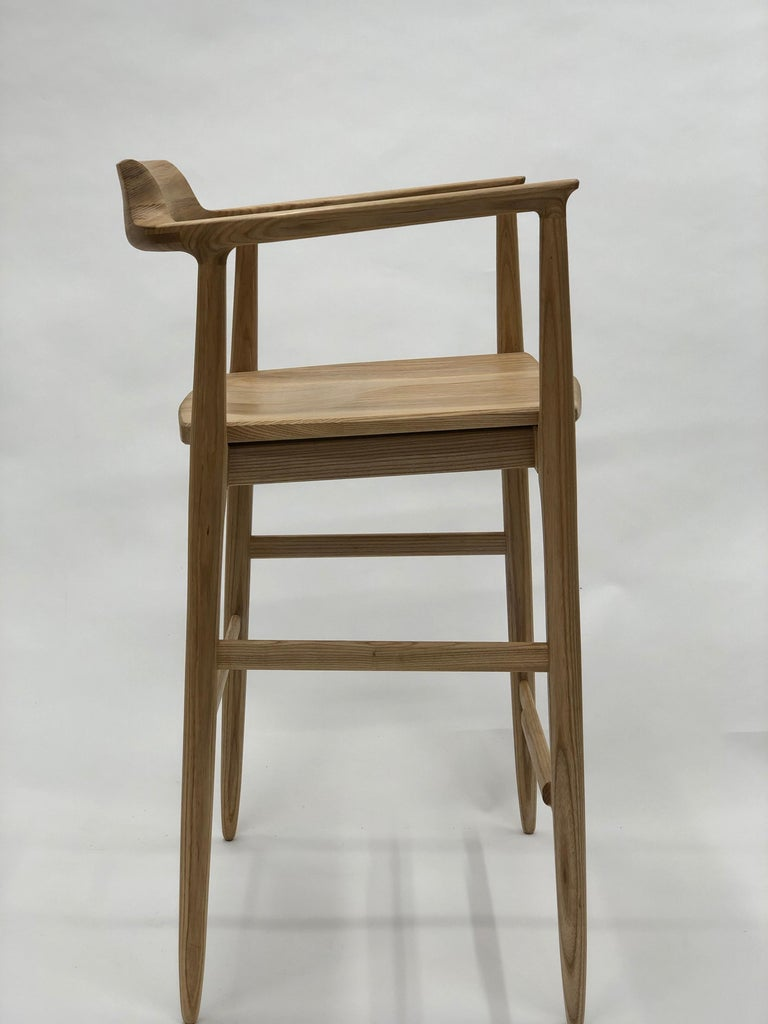 Henry Counter Stool in White Ash For Sale 4