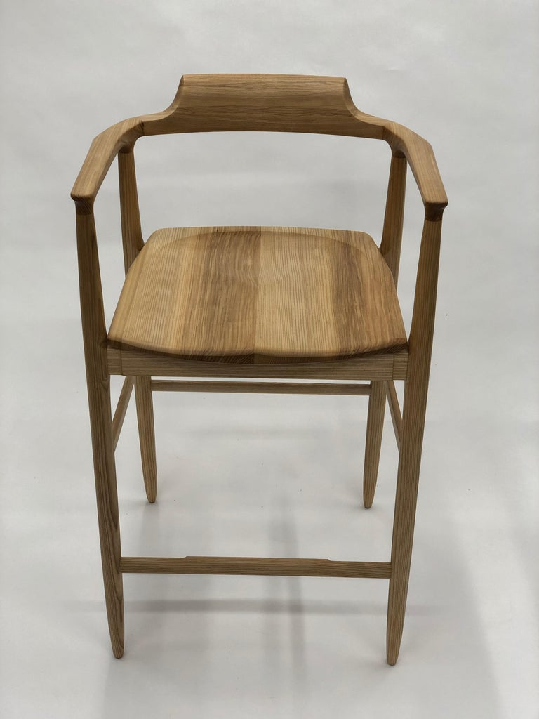 Henry Counter Stool in White Ash For Sale 5