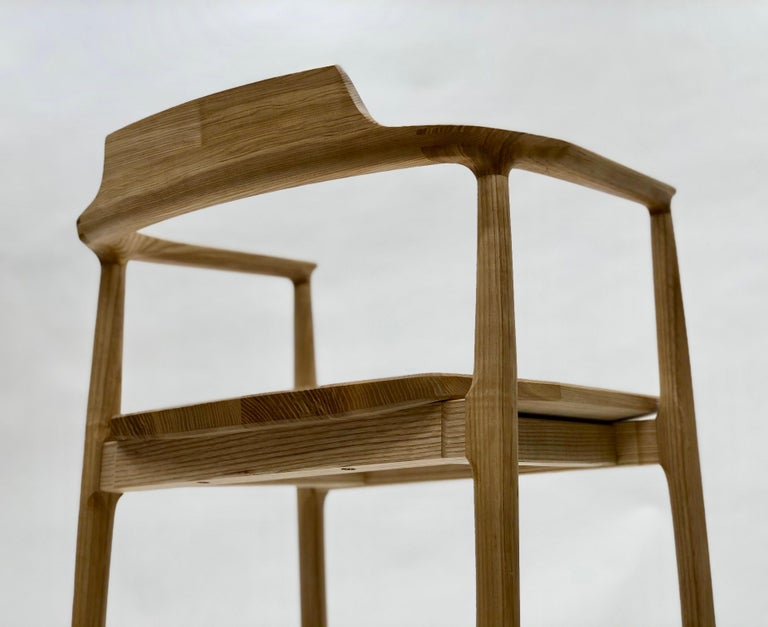 American Henry Counter Stool in White Ash For Sale