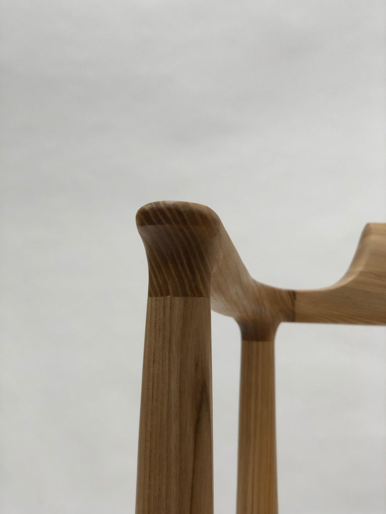 Henry Counter Stool in White Ash In New Condition For Sale In Princeton, NJ
