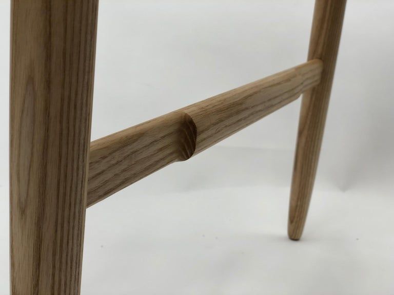 Contemporary Henry Counter Stool in White Ash For Sale