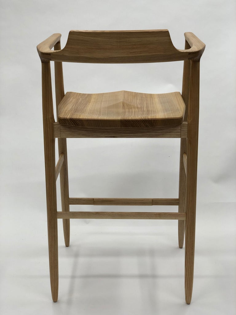 Henry Counter Stool in White Ash For Sale 3