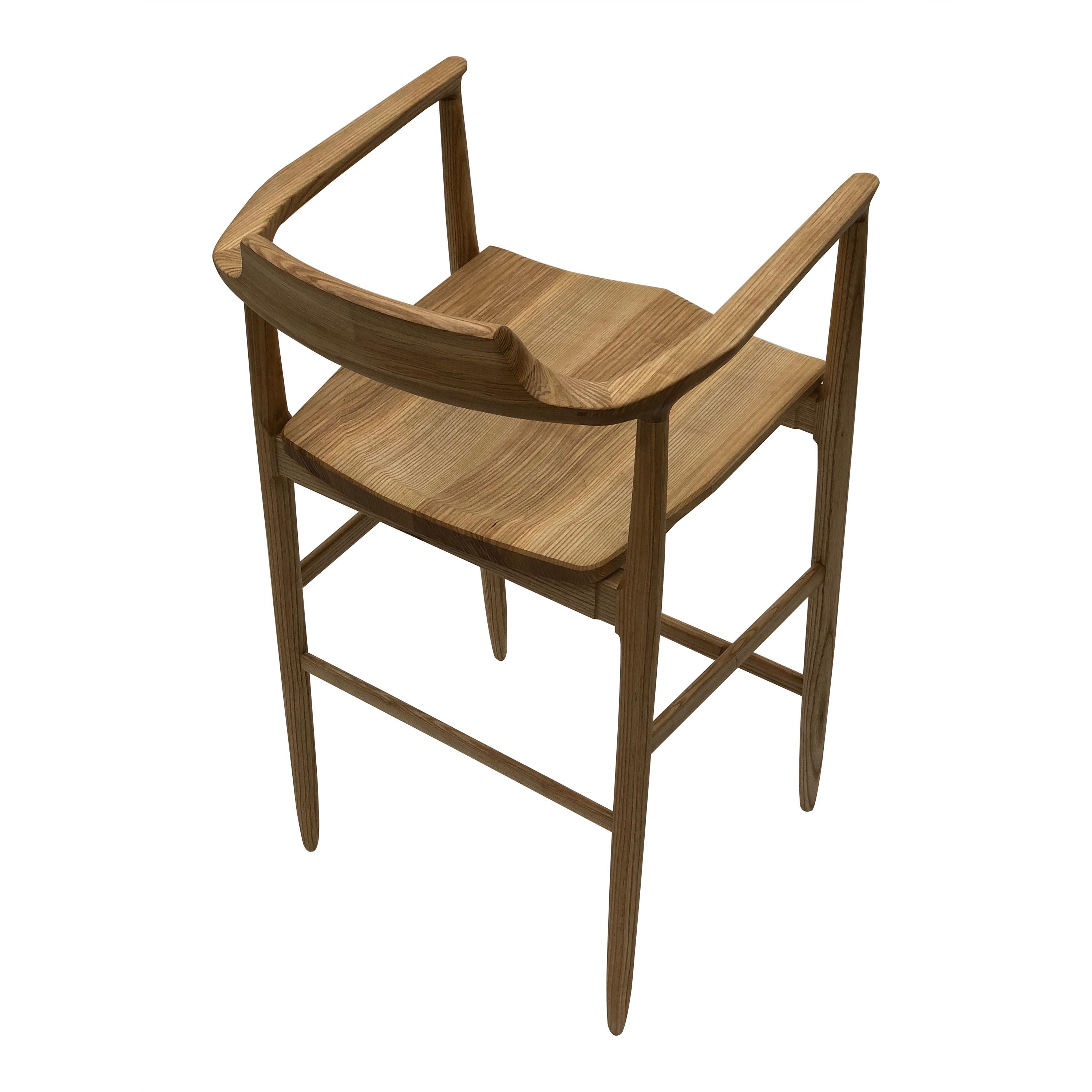 Henry Counter Stool in White Ash