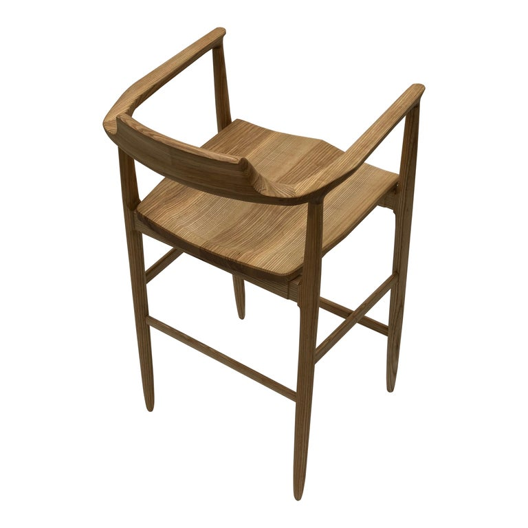 Henry Counter Stool in White Ash For Sale