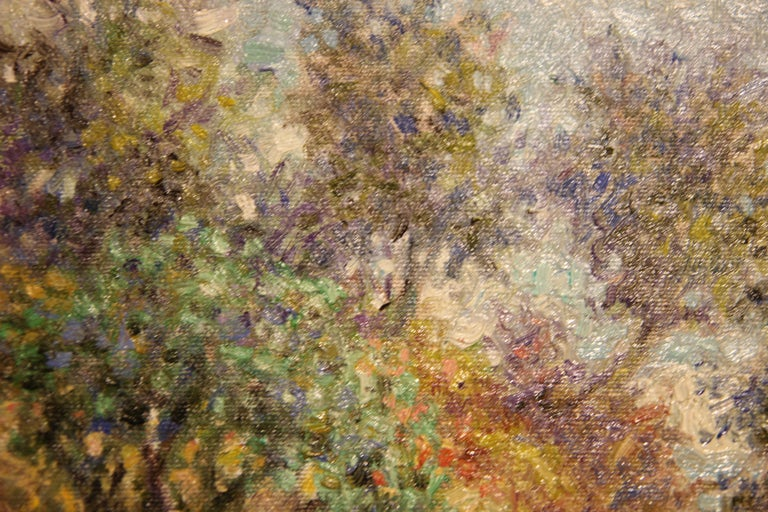 Contemporary landscape painting by Henry David Potwin. Soft hued impressionist painting depicting a scenic seascape vista. Signed by the artist in the bottom left corner and currently displayed in a light wood frame.   Dimensions Without Frame: H