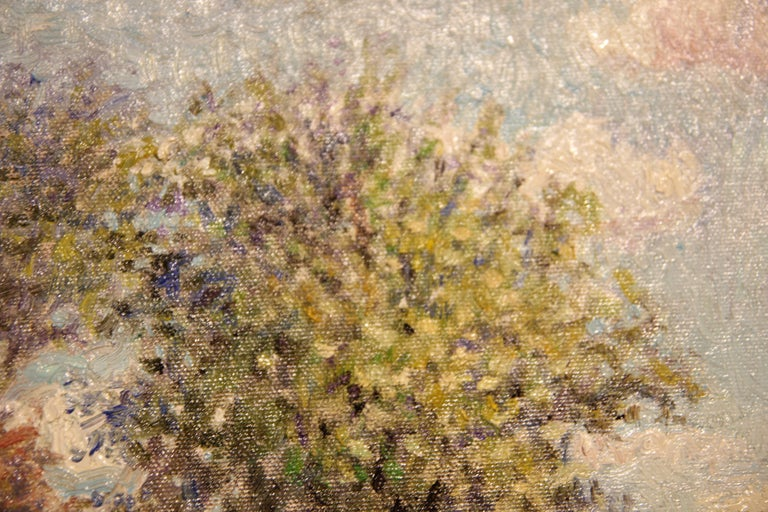 """""""Cliffside"""" Contemporary Impressionist Seaside Landscape Nature Painting For Sale 1"""