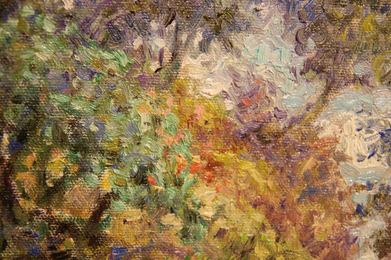 """""""Cliffside"""" Contemporary Impressionist Seaside Landscape Nature Painting For Sale 3"""
