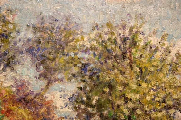 """""""Cliffside"""" Contemporary Impressionist Seaside Landscape Nature Painting For Sale 4"""