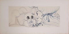 Vanity : The Cat, the Dove and the Death - Original drawing, Handsigned
