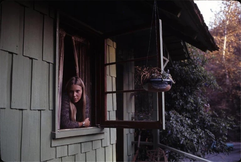 Henry Diltz Color Photograph - Joni Mitchell, 1970