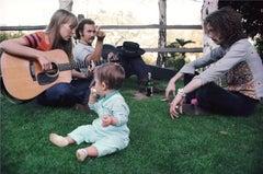 Joni Mitchell, David Crosby, and Eric Clapton, Lauren Canyon 1968